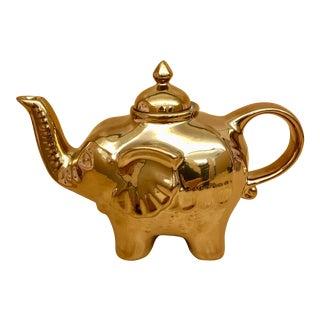 Gold Elephant Teapot