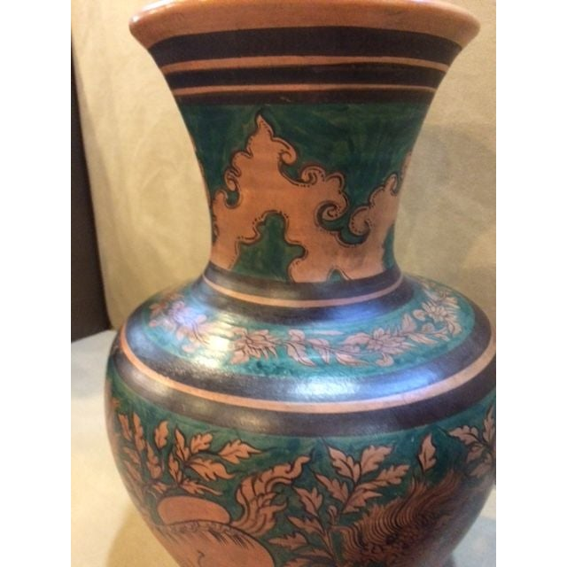 Mid-Century Urns with Deco Motif - A Pair - Image 4 of 6