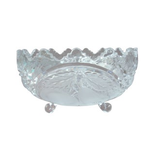 Cut & Frosted Crystal Bowl