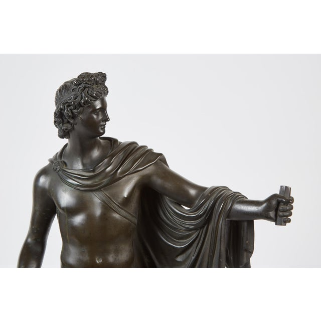 Late 19th Century French Bronze Sculpture of Apollo Belvedere - Image 3 of 6