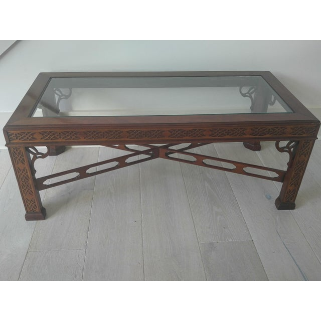 Thomasville Blind Fretwork Coffee Table Chairish
