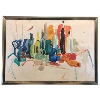 Mid-Century Still Life Oil Painting