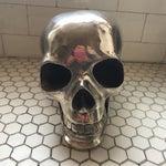Image of Large Vintage Silver Metal Skull