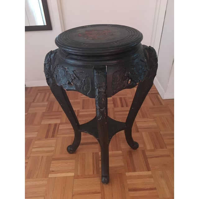 Image of Vintage Asian Inspired Corner Stand/Table