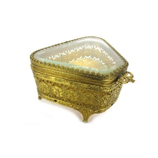 Brass & Glass Jewelry Casket