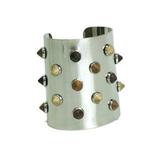 Fendi Studded Metal Bangle Bracelet