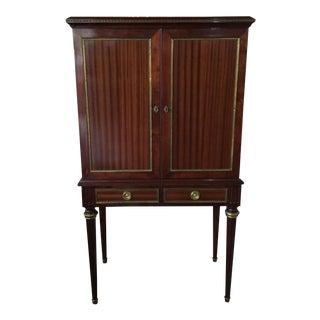 Louis XVI Style Mahogany Bar Cabinet