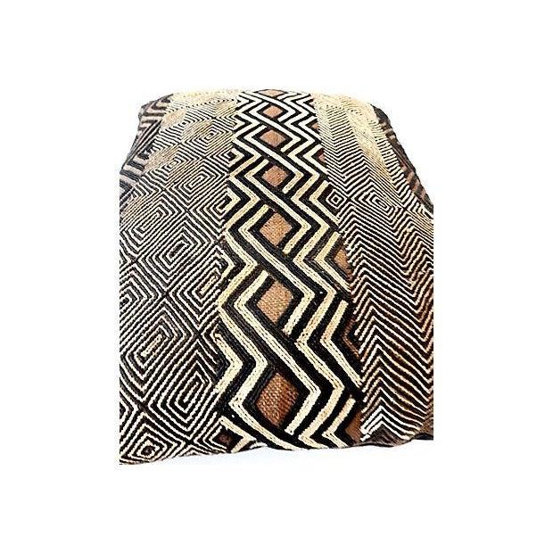 African Kuba Raffia Pillow - Image 7 of 7