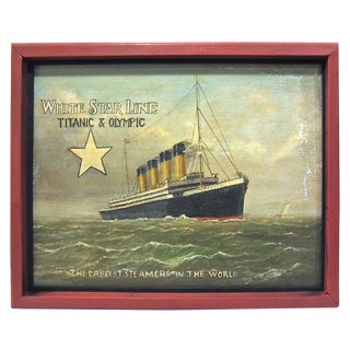 Titanic & Olympic White Star Line Trade Sign