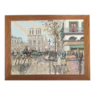 Paris Paint by Number Painting