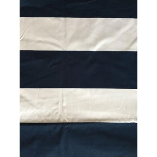 "Ralph Lauren Navy and White Printed ""Lighthouse Stripe"" Fabric - 5.5 Yards"