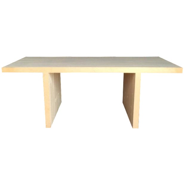 frank gehry 39 easy edges 39 dining table for vitra chairish. Black Bedroom Furniture Sets. Home Design Ideas