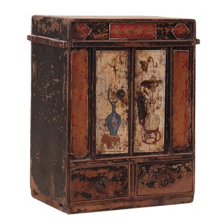 C. 1920 Chinese Painted Cabinet