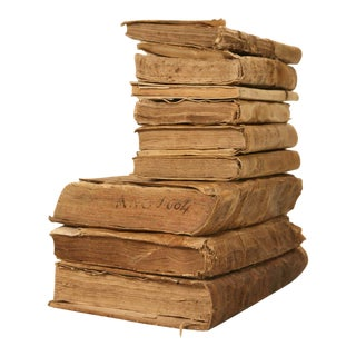 Circa 1604-1880 Original Latin and Spanish Vellum Bound Books