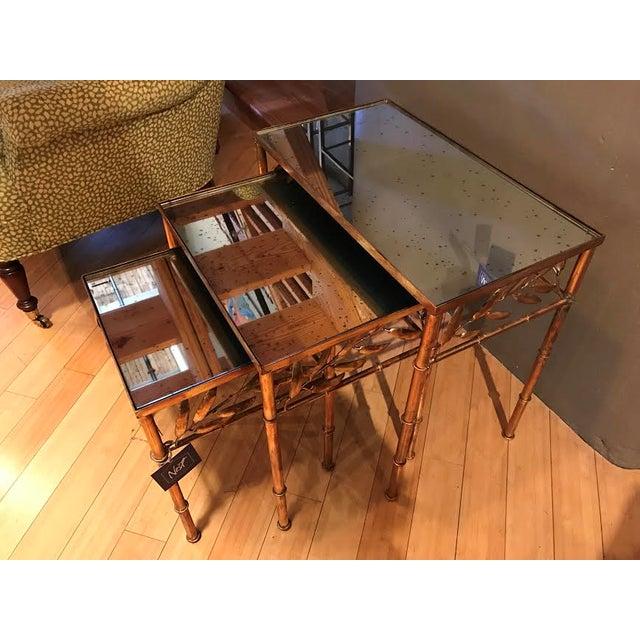 Modern History Mirrored Nesting Tables Set Of 3 Chairish