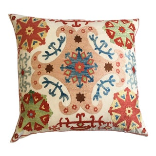 Embroidered Suzani Pillow Cover