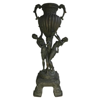 Antique Classical Bronze Female Urn