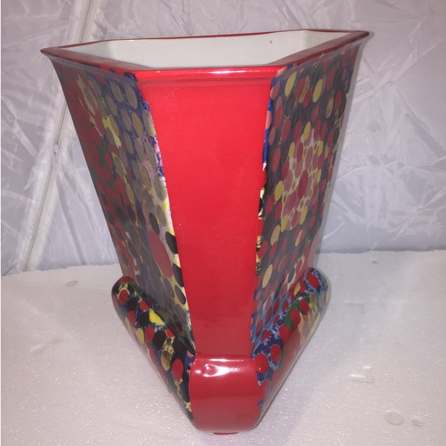 Porcelain Dot Vase - Image 4 of 5