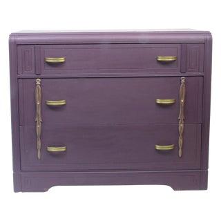 Custom Aubergine Art Deco Dresser