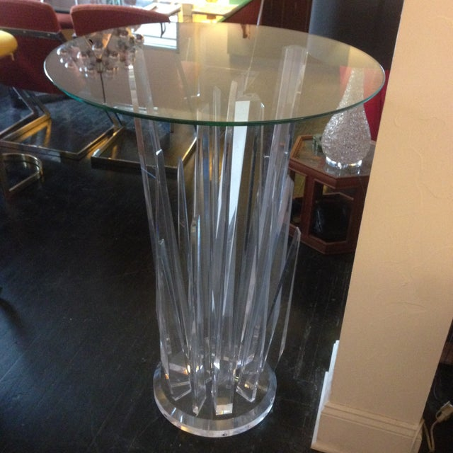 Haziza Rock Bar Lucite Crystal Table - Image 6 of 11