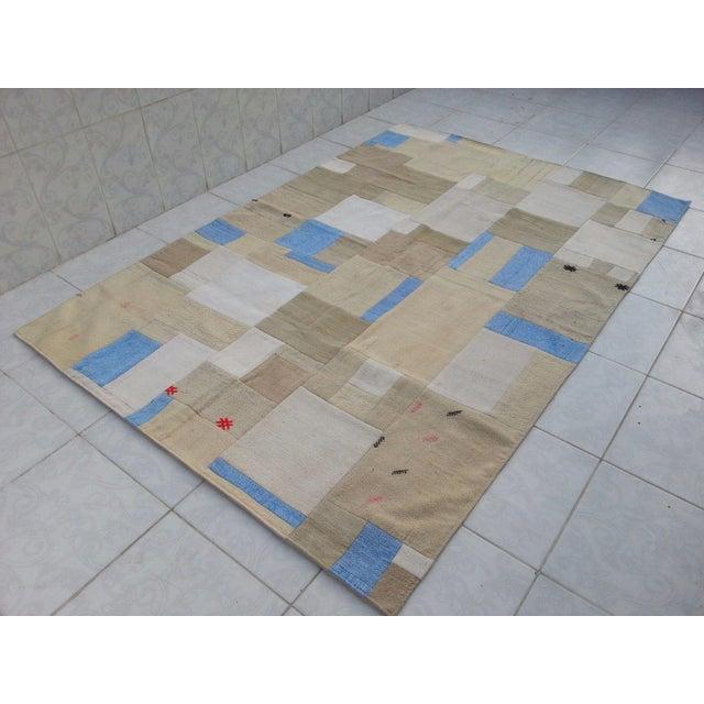 "Turkish Patchwork Overdyed Rug -- 5'1"" x 7'8"" - Image 4 of 6"