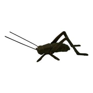 Vintage Brass Grasshopper Figurine