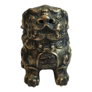 Gold Foo Dog Incense Burner