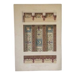 Decorative Ceiling German Chromo Lithograph