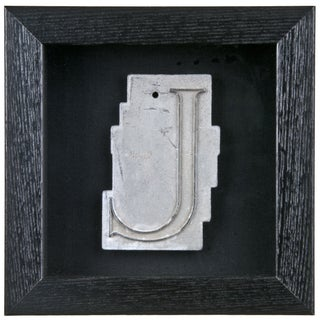 Framed Mid Century Spacerite Steel Letter J
