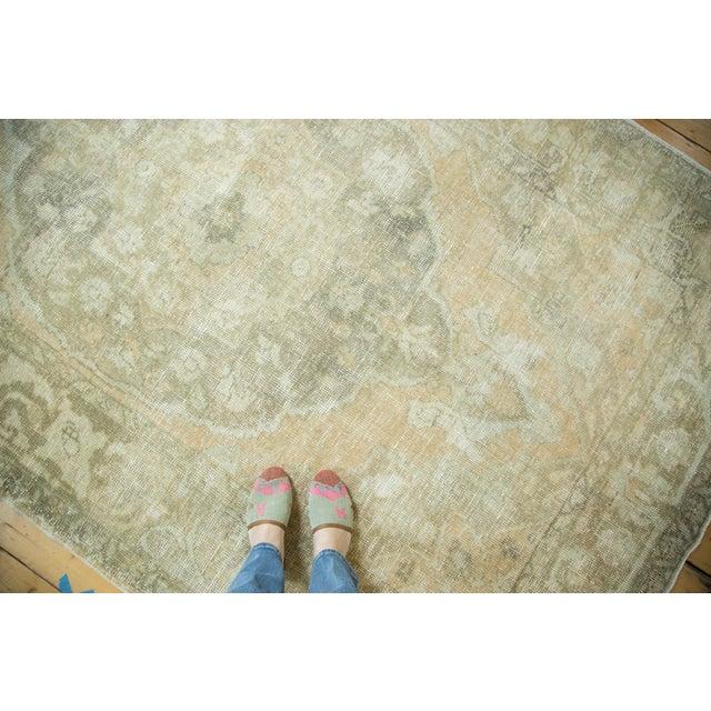 "Vintage Distressed Oushak Carpet - 5'8"" x 9'4"" - Image 3 of 10"