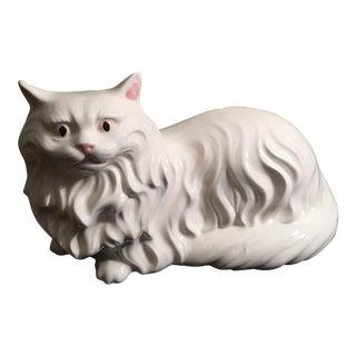 Italian Porcelain Fireside Persian Cat Figurine