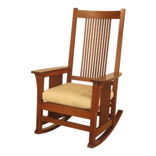 Stickley Spindle Back Mission Oak Rocking Chair