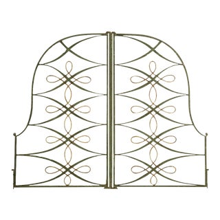 Vintage French Iron & Steel Gates - A Pair