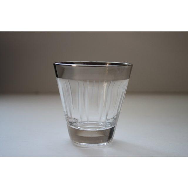 Silver Rimmed Shot Glasses - Set of 8 - Image 4 of 5