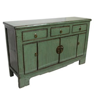 Antique Green Lacquer Sideboard