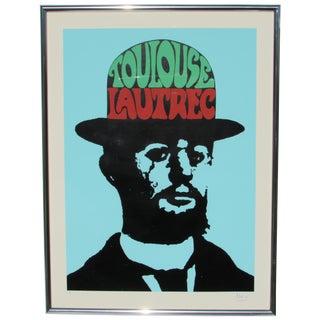 Peter Max Toulouse Lautrec Signed Original Print