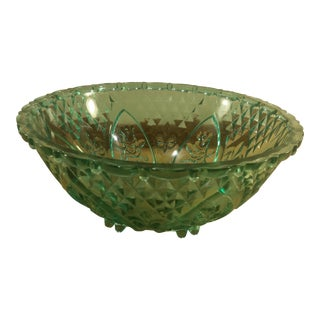 Indonesian Aqua Glass Bowl