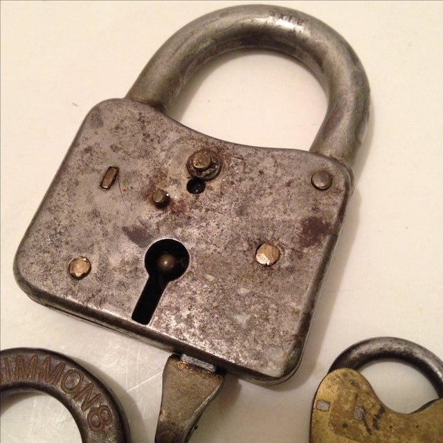 Assorted Antique Locks - Set of 5 - Image 3 of 6