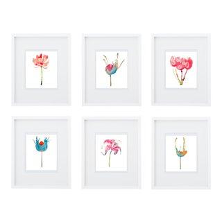 Botanical Art Print Grouping - Set of 6