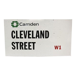 London Camden Borough Street Sign