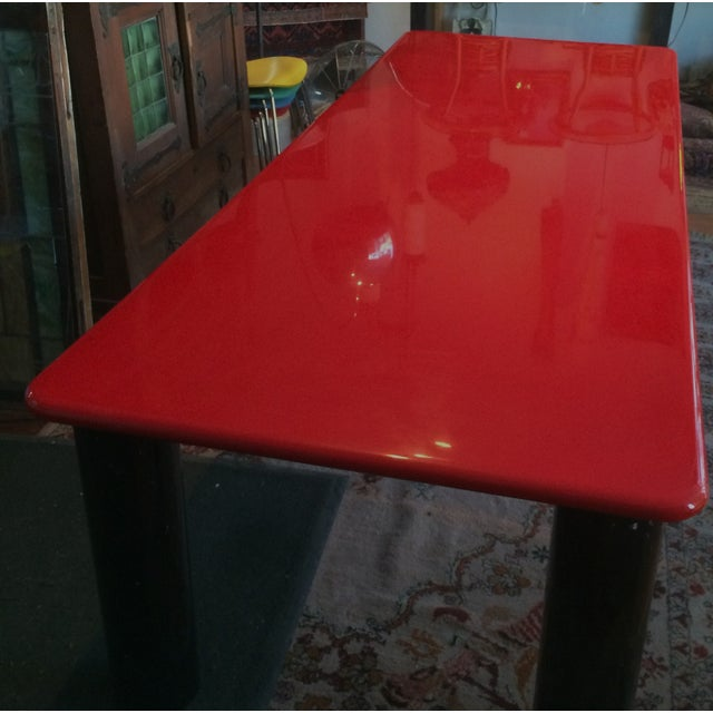 Vintage Italian Red Lacquer Table - Image 3 of 9