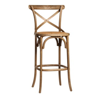 Rattan Seat Bar Stool