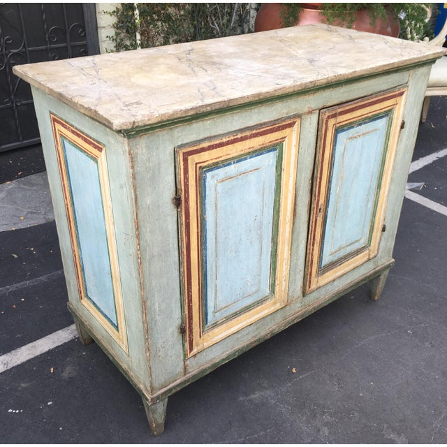 Superb Antique Paint Decorated Rustic Sideboard - Image 3 of 8