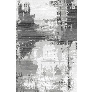 Modern Abstract Gray Turkish Rug - 10'x 13'2''
