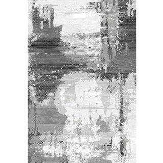 Modern Abstract Gray Turkish Rug - 10'x 13'2''