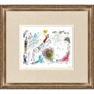 "Marc Chagall ""l'Ame Du Cirque"" 1981 Framed Poster"