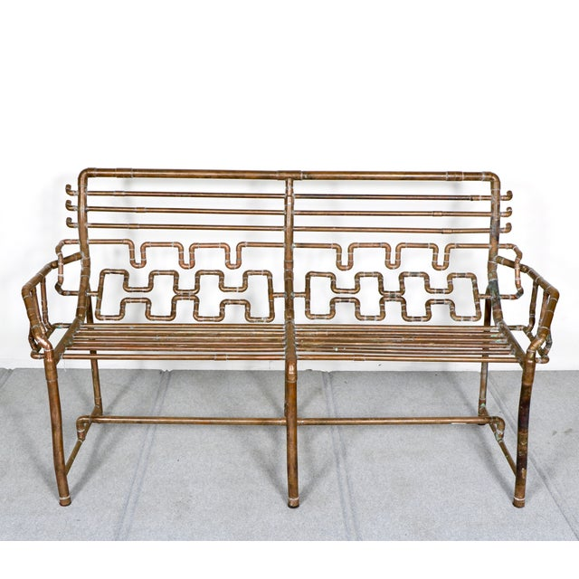 Modern Copper Pipe Bench - Image 3 of 11