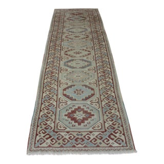 Oriental Turkish Wool Runner - 2′10″ × 9′11″