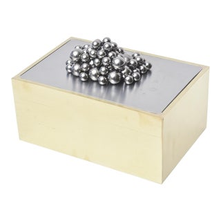 French Magnetic Brass, Chrome and Steel Tabletop Magnetic Sculpture