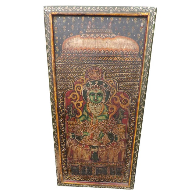 Image of Folk Art Painted Panel
